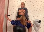Schleimdusche auf der Herrentoilette